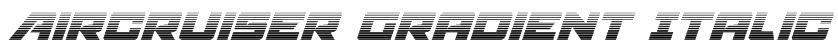 Aircruiser Gradient Italic Font