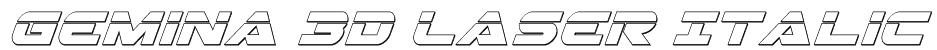 Gemina 3D Laser Italic Font