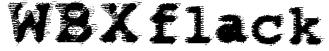 WBXflack Font