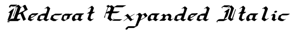 Redcoat Expanded Italic Font