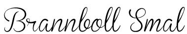 Brannboll Smal Font
