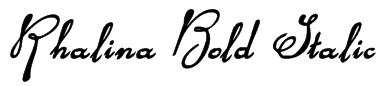 Rhalina Bold Italic Font
