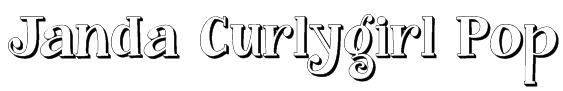 Janda Curlygirl Pop Font