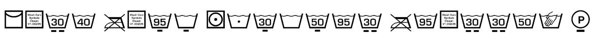 Wash Care Symbols Classic M54 Font