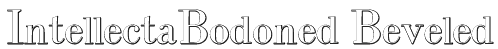 IntellectaBodoned Beveled Font