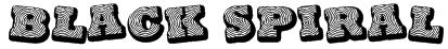 Black spiral Font