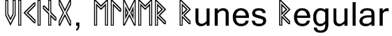 VIKING, ELDER Runes Regular Font