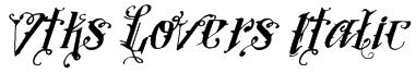 Vtks Lovers Italic Font