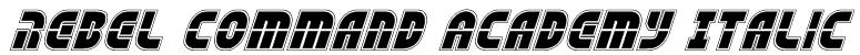 Rebel Command Academy Italic Font