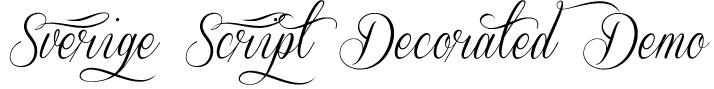 Sverige Script Decorated Demo Font
