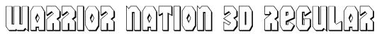 Warrior Nation 3D Regular Font