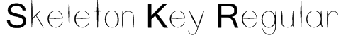 Skeleton Key Regular Font