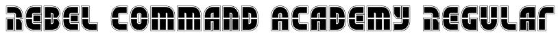 Rebel Command Academy Regular Font