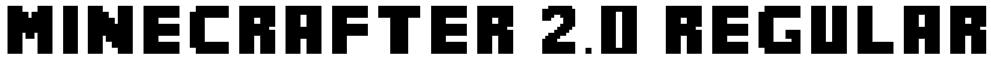 MineCrafter 2.0 Regular Font