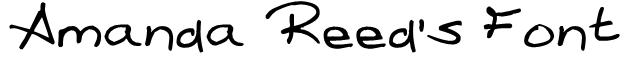 Amanda Reed's Font Font