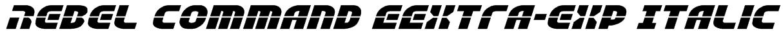 Rebel Command EExtra-exp Italic Font