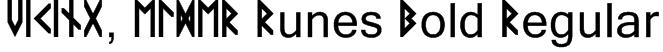 VIKING, ELDER Runes Bold Regular Font