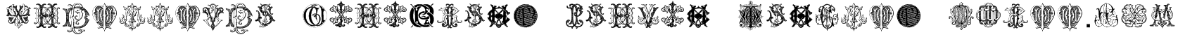 Intellecta Monograms Random Samples Three.vfb Font