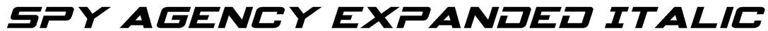 Spy Agency Expanded Italic Font
