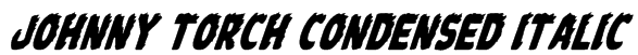 Johnny Torch Condensed Italic Font