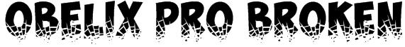Obelix Pro Broken Font