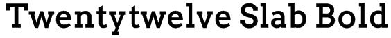 Twentytwelve Slab Bold Font
