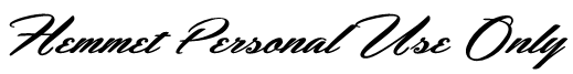 Hemmet Personal Use Only Font