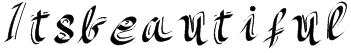 Itsbeautiful Font