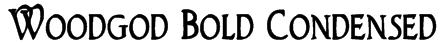 Woodgod Bold Condensed Font