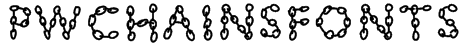 PWChainsfonts Font