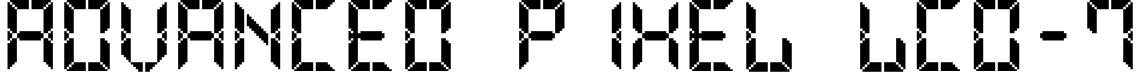Advanced Pixel LCD-7 Font