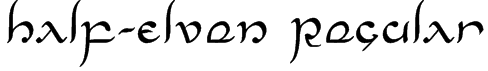 Half-Elven Regular Font