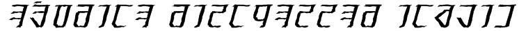 Exodite Distressed Italic Font