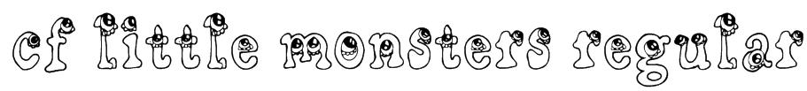 CF Little Monsters Regular Font