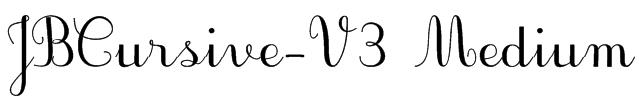JBCursive-V3 Medium Font