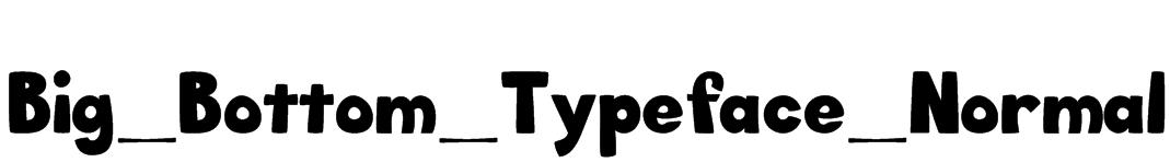 Big_Bottom_Typeface_Normal Font