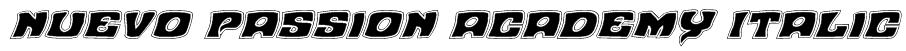 Nuevo Passion Academy Italic Font