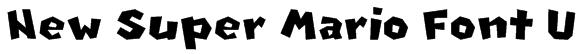 New Super Mario Font U Font