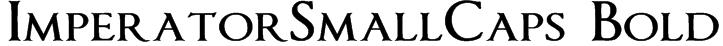 ImperatorSmallCaps Bold Font