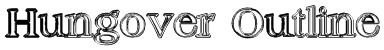 Hungover Outline Font