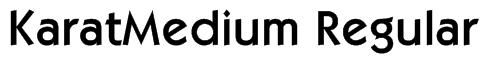 KaratMedium Regular Font