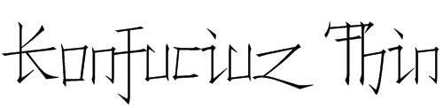 Konfuciuz Thin Font