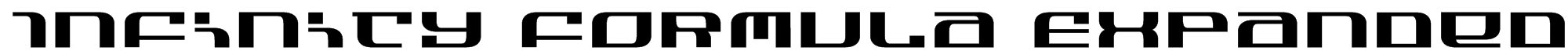 Infinity Formula Expanded Font
