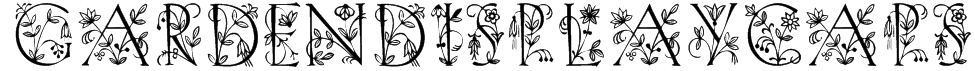 GardenDisplayCaps Font