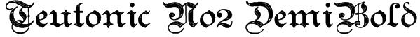 Teutonic No2 DemiBold Font