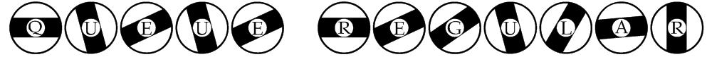 Queue Regular Font