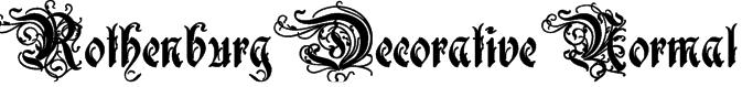 Rothenburg Decorative Normal Font