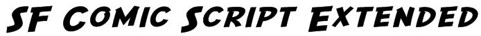 SF Comic Script Extended Font