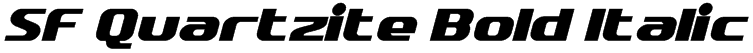 SF Quartzite Bold Italic Font
