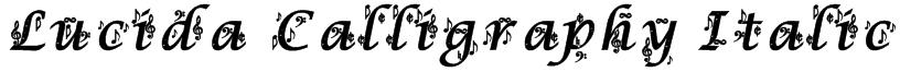 Lucida Calligraphy Italic Font
